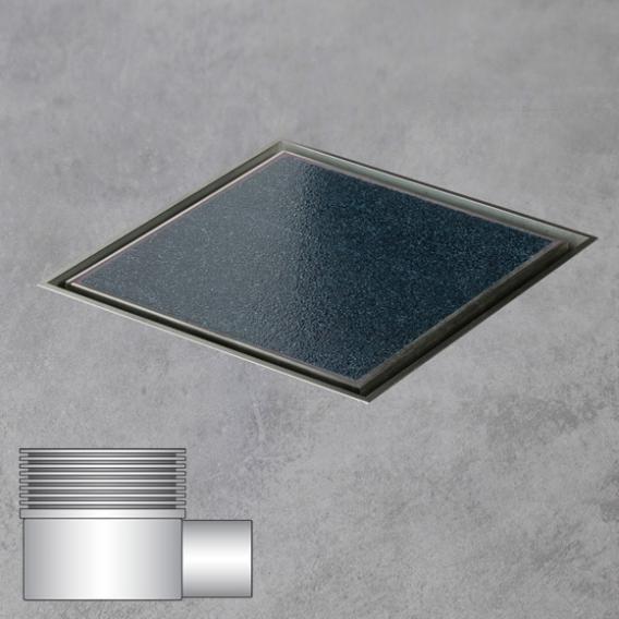 ESS Aqua Jewels Quattro Bodenablauf inklusive Abdeckung für Fliese, waagerechter Anschluss L: 20 B: 20 cm
