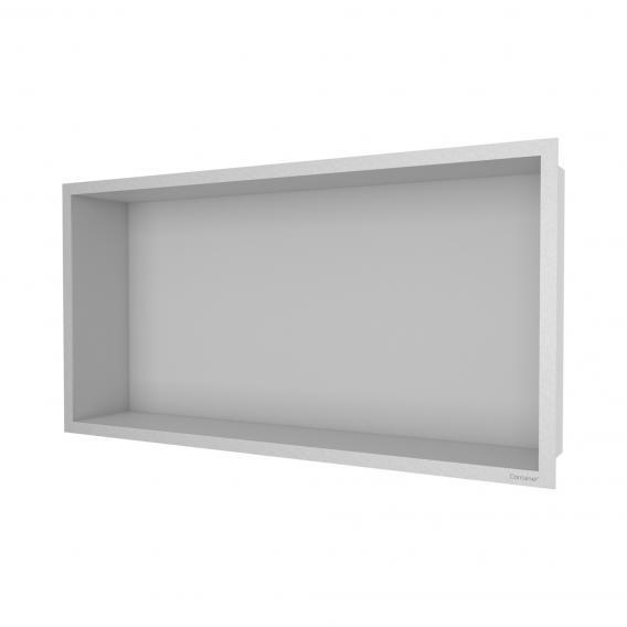 ESS Container F-BOX Wandnische mit NEUEM Rahmen Nische edelstahl gebürstet / Rahmen edelstahl gebürstet