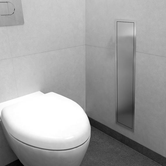 ESS Container ROLL Einbau WC - Bürstenhalter und Nische edelstahl gebürstet