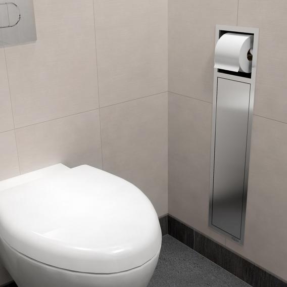 ESS Container ROLL WC-Bürstengarnitur mit Papierhalter edelstahl gebürstet
