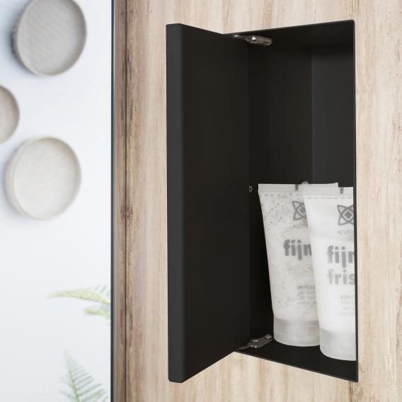 ESS Container T-BOX Wandnische mit 1 Tür, befliesbar schwarz