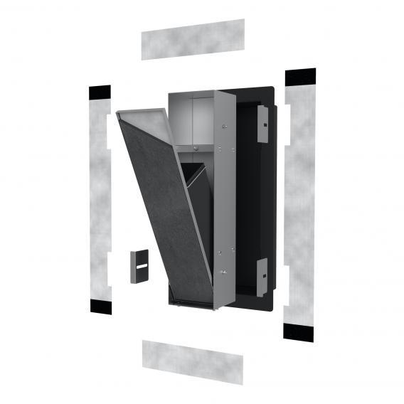 ESS Container T-ROLL Einbau Abfallbehälter und Ablagefach edelstahl