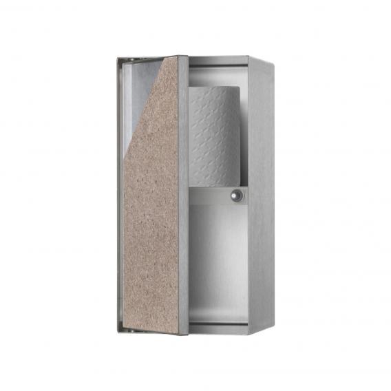 ESS Container T-ROLL Wandnische mit 2 Ablagefächern und 1 Tür, befliesbar edelstahl gebürstet