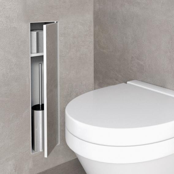 ESS Container T-ROLL WC-Bürstengarnitur mit Ablagefach, befliesbar weiß