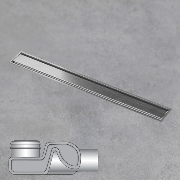 ESS Aqua Jewels Linea xs Bodenablauf inklusive Abdeckung edelstahl gebürstet, L: 30 cm