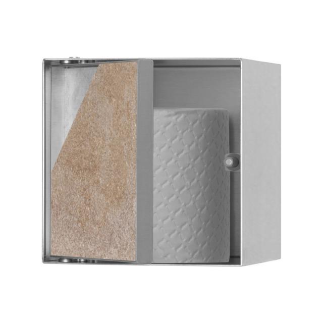 ESS Container T-ROLL Wandnische mit 1 Tür, befliesbar edelstahl gebürstet