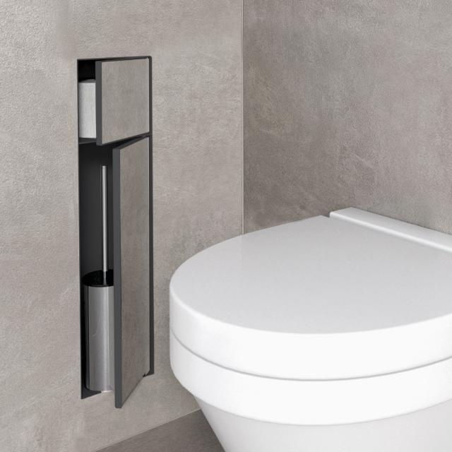 ESS Container T-ROLL WC-Bürstengarnitur mit Papierhalter, befliesbar anthrazit