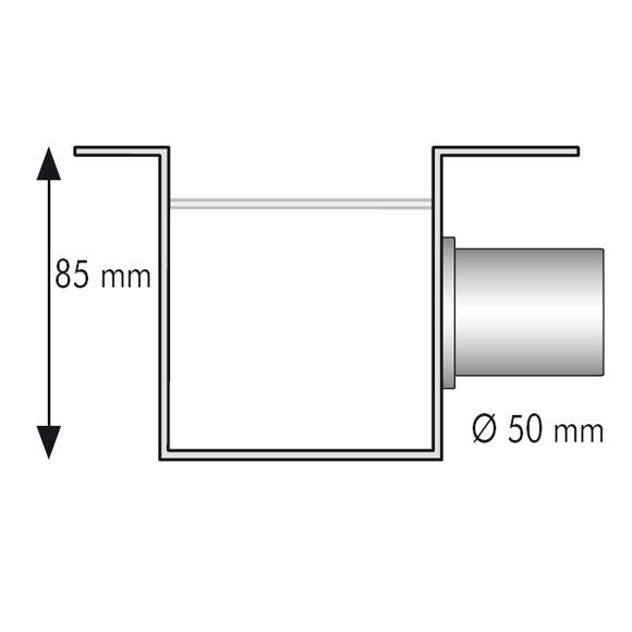 ESS Easy Drain Modulo M-1 Rohbauset L: 100 cm