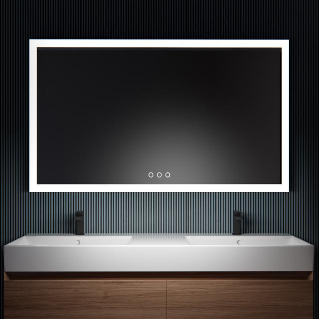 ESS Lugano Spiegel mit LED-Beleuchtung anthrazit, ohne Spiegelheizung