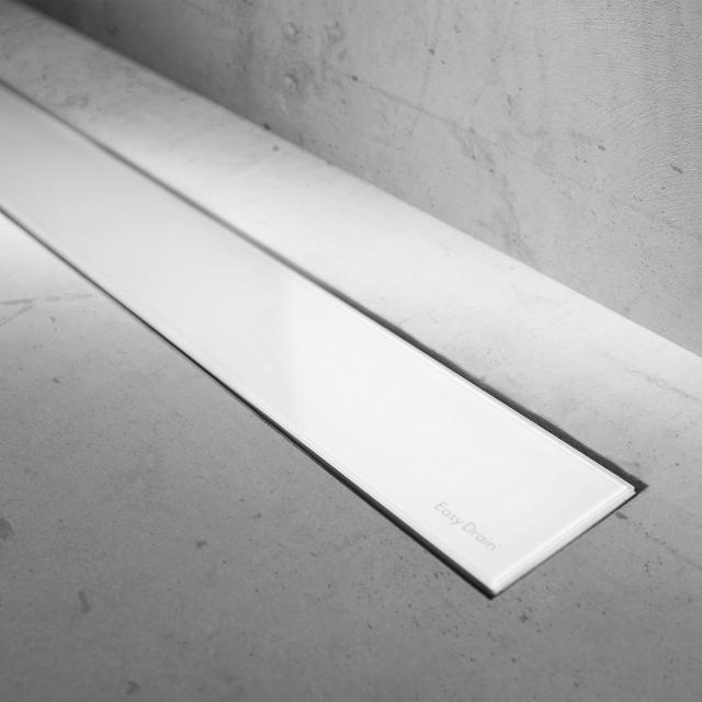 ESS Modulo Basic Glas weiß Glanz für Duschrinne: 50 cm