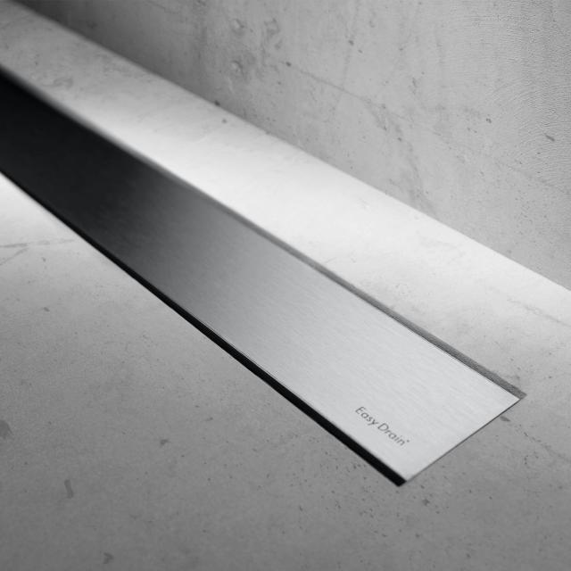 ESS Modulo Basic Zero+ Edelstahl gebürstet für Duschrinne: 80 cm