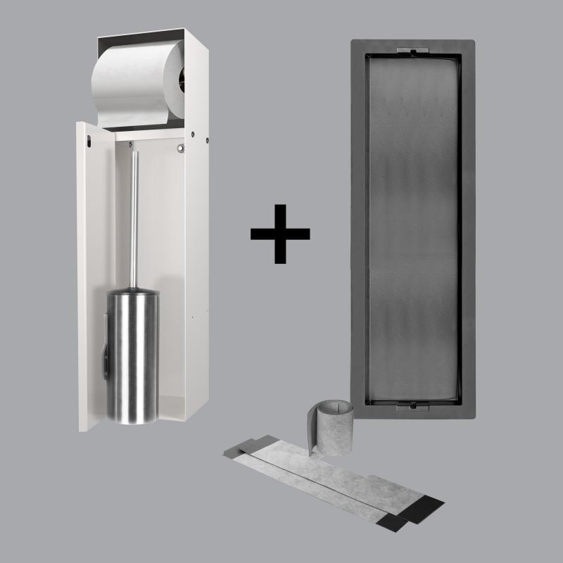 ess container t roll einbau wc b rstenhalter und. Black Bedroom Furniture Sets. Home Design Ideas
