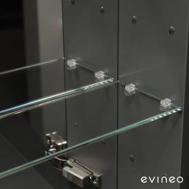 Evineo ineo Glasfachboden-Set für Spiegelschrank B: 80 cm, 2 Stück