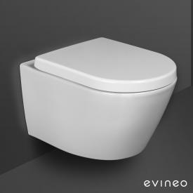Evineo ineo Wand-Tiefspül-WC-SET, spülrandlos, mit WC-Sitz, abnehmbar, antibakteriell