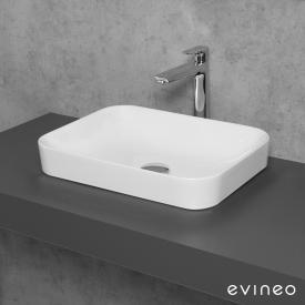 Evineo ineo3 soft Aufsatzwaschtisch B: 50 H: 11,8 T: 38 cm