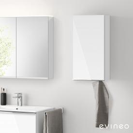 Evineo ineo4 Hängeschrank mit 1 Tür, mit Griff Front weiß hochglanz / Korpus weiß hochglanz