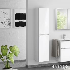 Evineo ineo4 Hochschrank mit 2 Türen, mit Griff Front weiß hochglanz / Korpus weiß hochglanz