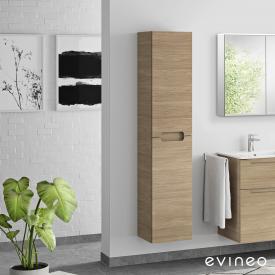 Evineo ineo5 Hochschrank mit 2 Türen, mit Griffmulde Front eiche / Korpus eiche
