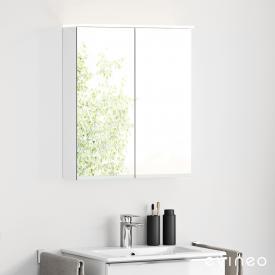 Evineo ineo Spiegelschrank mit integrierter LED-Beleuchtung, mit 2 Türen