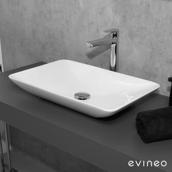 Evineo ineo3 soft Aufsatzwaschtisch B: 60 H: 9,8 T: 37,7 cm