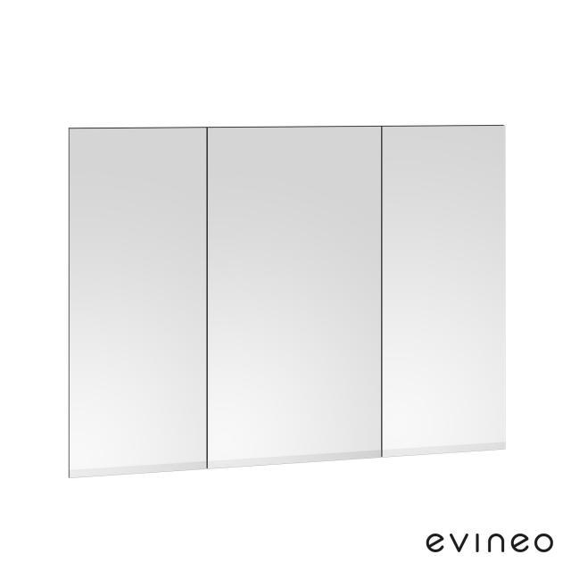 Evineo ineo Spiegelfront-Set für Spiegelschrank mit 3 Türen B: 100 cm
