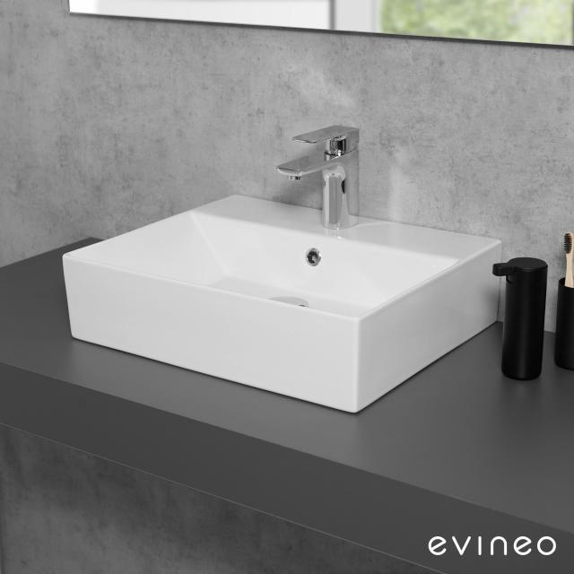 Evineo ineo3 edge Aufsatz- oder Hängewaschtisch B: 50 T: 42 cm