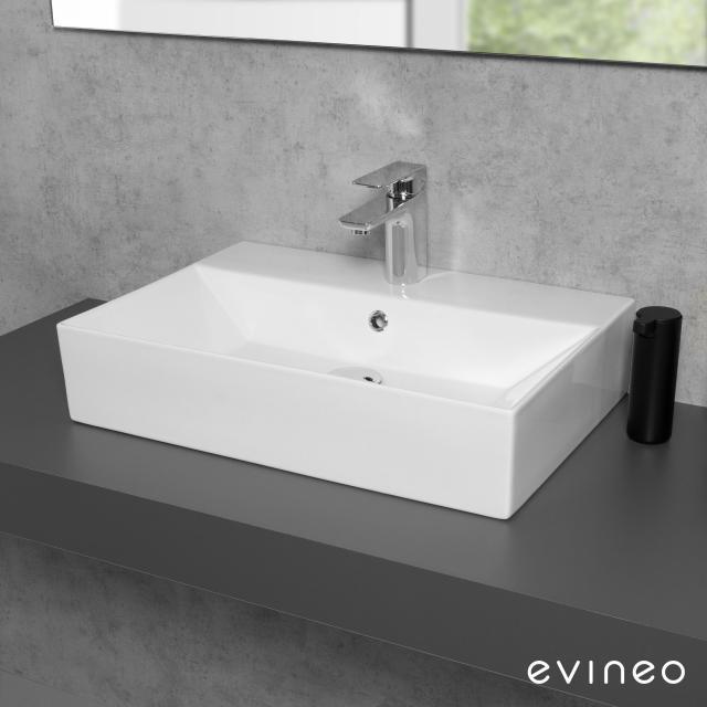 Evineo ineo3 edge Aufsatz- oder Hängewaschtisch B: 60 T: 42 cm