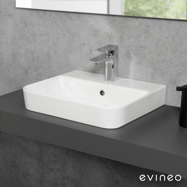Evineo ineo3 soft Aufsatz- oder Hängewaschtisch B: 47,8 T: 41,7 cm