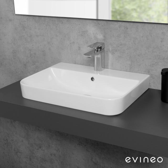Evineo ineo3 soft Aufsatz- oder Hängewaschtisch B: 57,1 T: 43,6 cm