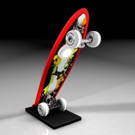 EVOTEC Mini Cruiser Skateboard LED Tischleuchte