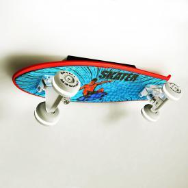 EVOTEC Mini Cruiser Skateboard LED Wandleuchte mit Zuleitung