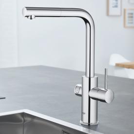 Grohe Blue Home die NEUE Küchenarmatur mit Filterfunktion, L-Auslauf ausziehbar chrom