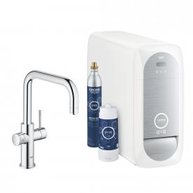 Grohe Blue Home DUO Starter Kit mit Einhand-Spültischbatterie, U-Auslauf chrom