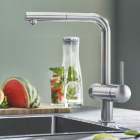 Grohe Blue Pure Minta die NEUE Küchenarmatur mit Filterfunktion, L-Auslauf supersteel