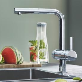 Grohe Blue Pure Minta die NEUE Küchenarmatur mit Filterfunktion und ausziehbarem Auslauf chrom