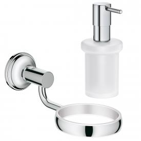 Grohe Essentials Authentic Bad-Set Halter mit Seifenspender chrom