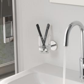 Grohe Essentials Bad-Set Halter mit Kristallglas chrom