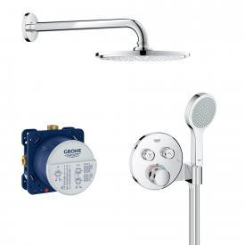 Grohe Grohtherm SmartControl Duschsystem Unterputz mit Rainshower Cosmopolitan 210 Kopfbrause