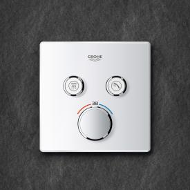 Grohe Grohtherm SmartControl Thermostat mit 2 Absperrventilen moon white/chrom