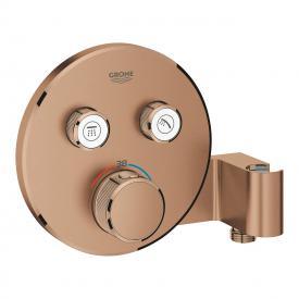 Grohe Grohtherm SmartControl Thermostat mit 2 Absperrventilen und integriertem Brausehalter warm sunset gebürstet