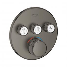 Grohe Grohtherm SmartControl Thermostat mit 3 Absperrventilen hard graphite gebürstet