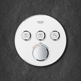 Grohe Grohtherm SmartControl Thermostat mit 3 Absperrventilen moon white/chrom