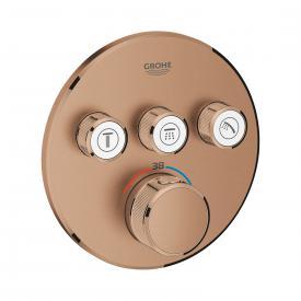 Grohe Grohtherm SmartControl Thermostat mit 3 Absperrventilen warm sunset gebürstet