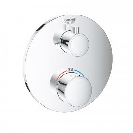 Grohe Grohtherm Thermostat-Wannenbatterie mit 2-Wege-Umstellung rund, für Rapido SmartBox