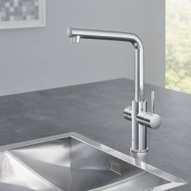 Grohe Red die NEUE Küchenarmatur mit Filterfunktion für kochend heißes Wasser, L-Auslauf chrom