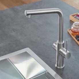 Grohe Red die NEUE Küchenarmatur mit Filterfunktion für kochend heißes Wasser, C-Auslauf, L-Auslauf supersteel