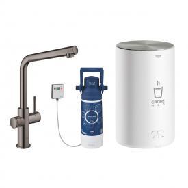 Grohe Red die NEUE Küchenarmatur mit Filterfunktion für kochend heißes Wasser, C-Auslauf, L-Auslauf hard graphite