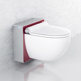 Grohe Sensia IGS Dusch-WC Komplettanlage für Unterputzspülkästen, Wandmontage, mit WC-Sitz weiß/chrom matt/rot