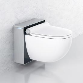 Grohe Sensia IGS Dusch-WC Komplettanlage für Unterputzspülkästen, Wandmontage, mit WC-Sitz weiß/chrom matt/schwarz