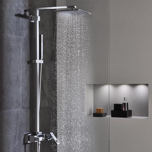 grohe euphoria cube xxl system 230 duschsystem mit einhandmischer f r die wandmontage 23147001. Black Bedroom Furniture Sets. Home Design Ideas